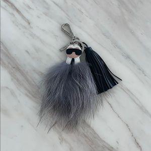 100% Authentic Super Cute Fendi Keychain W Pompom